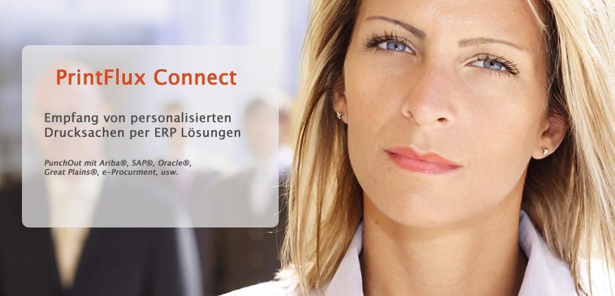 Printflux Connect - Empfang von personalisierten Drucksachen per ERP Lösungen